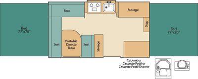 Coleman Pop Up Floor Plans | Coleman Pop Up Camper Destiny Series Westlake Floorplan