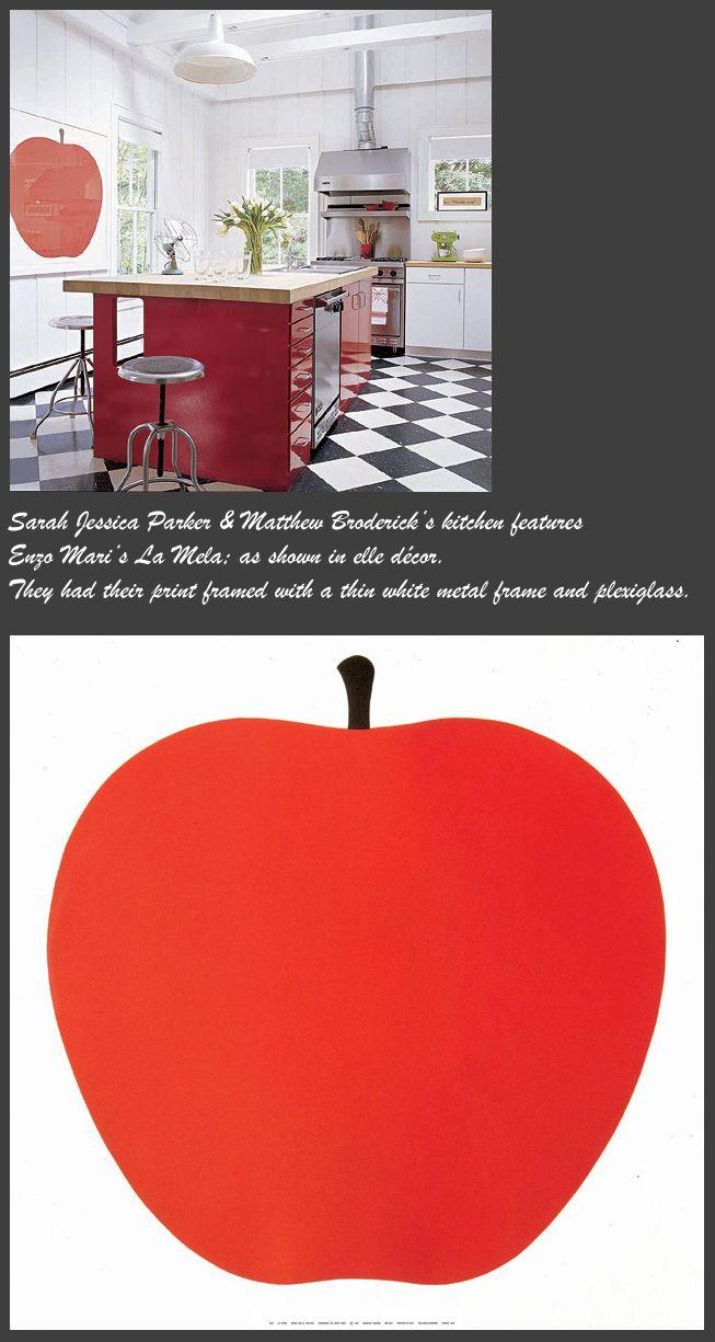 Enzo Mari: La Mela Modern Poster   NOVA68 Modern Design