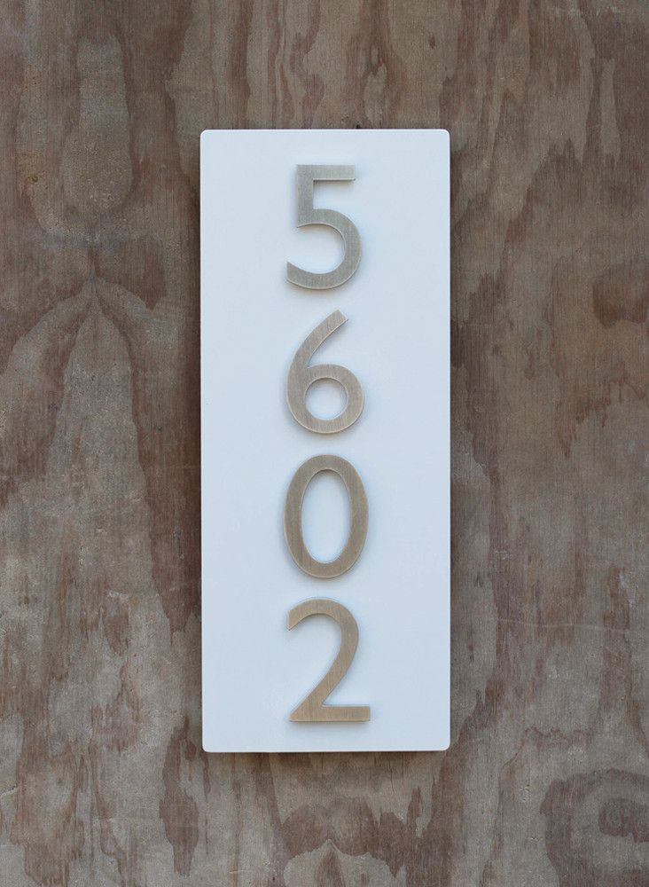 31 best images about House numbers on Pinterest Modern fonts Ea