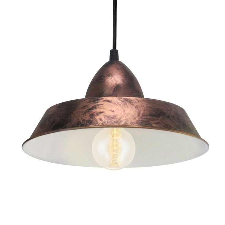 Eglo Vintage 49243 Coppery Steel Industrial Pendant