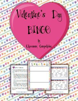 FREE Valentine's Day Candy Hearts Bingo Game