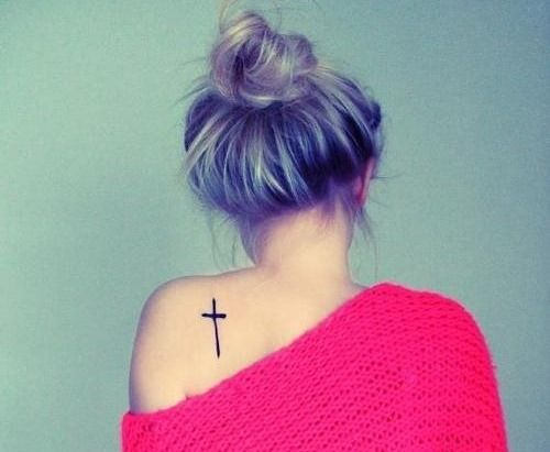 28 Small Cross Tattoos for Girls (20). I like but I want all mine covered by a strapless dress..