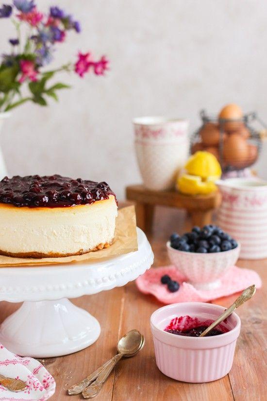 Tarta de queso con arandanos la receta