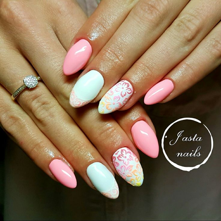 Summer nails, kwiatki