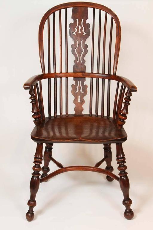 An English Windsor Armchair with Crinoline Stretcher, circa 1825 4