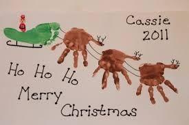 christmas hand print - Google Search