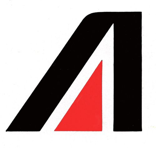 Trademark Design    Walter Landor, Assoc., US for Alitalia Airline, before 1976.