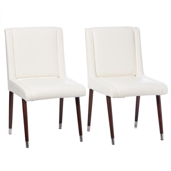 joan modern white leather dining chairs set of 2 299 need 4 sets