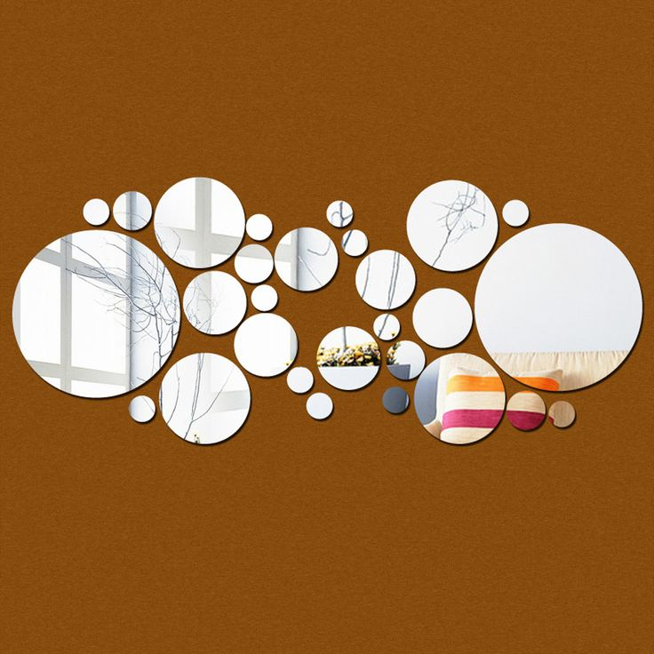 New Arrival Wall Mirrors Decoration Environmental PS Decorative Wall Sticker Circle Miroir Mural Free Shipping for Living Room-in Wall Stickers from Home & Garden on Aliexpress.com | Alibaba Group