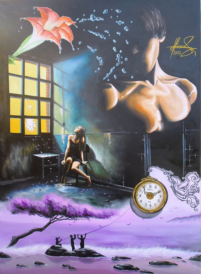 """""""Waiting for a Sign"""" Oil on canvas.  #MihaiRaceanuAdrian  #art #painter #painure #surrealism"""