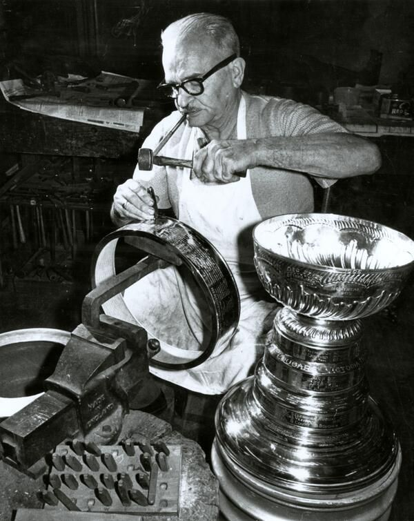 Engraving the Stanley Cup has been a family tradition for years