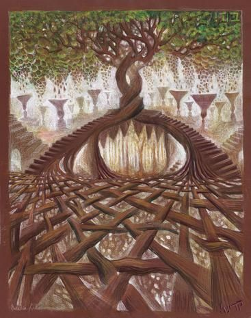 """Tree of Life"" by Natalia Kadish.  - notice the Star of David in the roots..wonderful idea!"