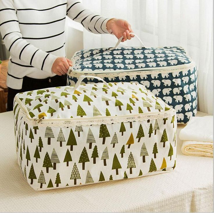 [Visit to Buy] new Zakka cotton zipper box waterproof Large Duvet Clothesfolding Storage bag Bin bucket Child large storage organizer basket #Advertisement