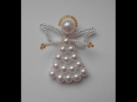 Белоснежный Ангел из бисера. / Angel with snow-white beads. - YouTube