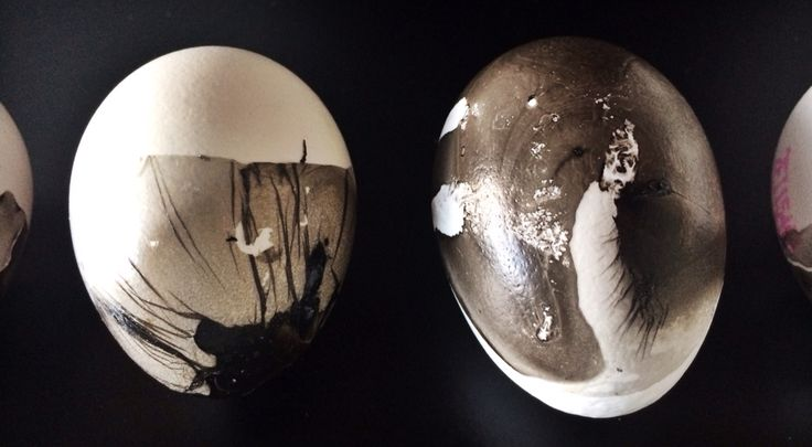 Black and white easter eggs