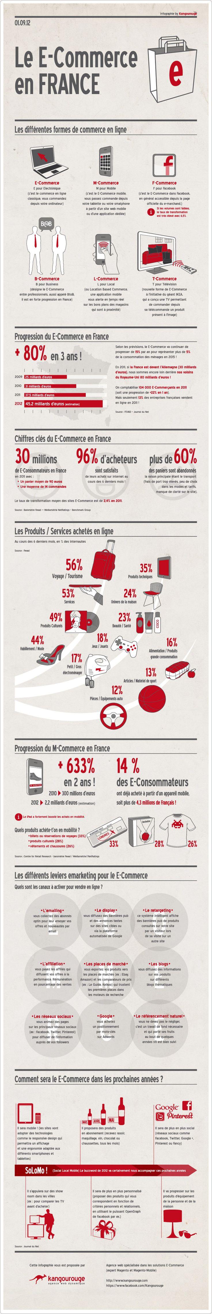 Je pense que le SoLoMo va prendre une part de plus en plus importante dans le #ecommerce (Infographie sur le E-commerce en France)