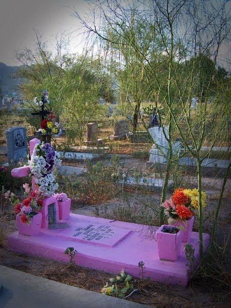 Pink tombstone, Concordia Cemetary