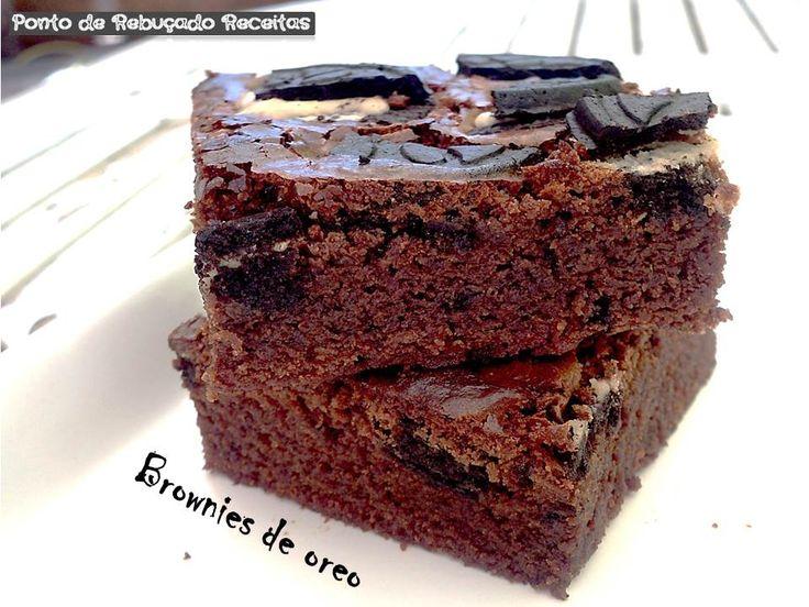 Ponto de Rebuçado Receitas: Brownies de oreo