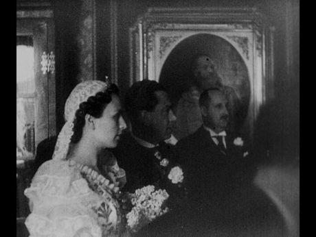 Royal Wedding, Katalin Bocskay de Felsoe-Banya and Albrecht II Habsburg, 1938 [video] | Repozytorium Cyfrowe Filmoteki Narodowej #wedding #retro #retrowedding #royal #royalwedding #dress #weddingdress