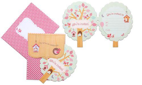 Little Birdy tree invitations HiPP, from www.hootinvitations.com.au  #birthdayinvitations
