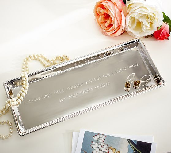 Mother's Day Sentiment Tray | Pottery Barn: Children Hands, Metals Trays, Metal Trays, Gifts Ideas Mom, Heart Forever, Potterybarn Mothersday, Pottery Barns, Sentiments Trays, Mothers Hold