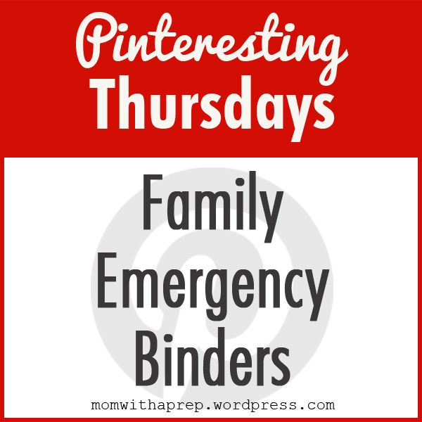 Family Emergency Binders ~ creating an emergency binder with all the necessary information your family would need in a time of crisis or post-emergency.