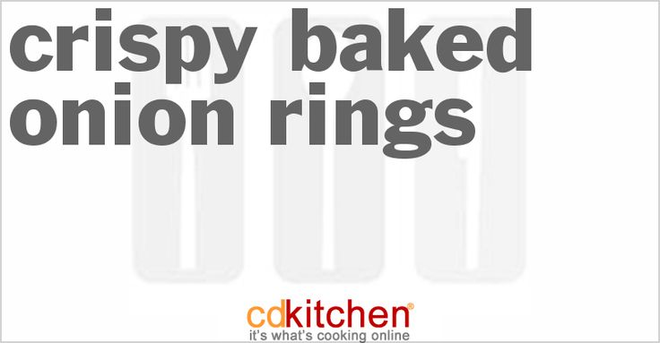 ... Onion Rings | Recipe | Baked Onion Rings, Baked Onions and Onion Rings