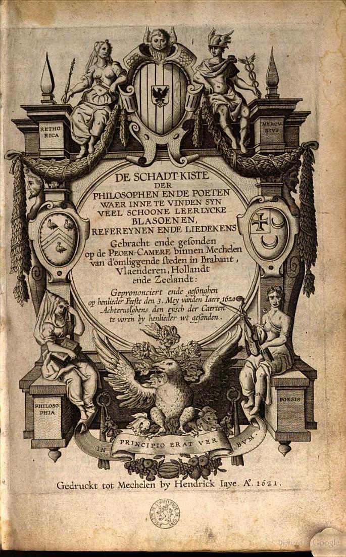 De schadt-kiste der philosophen ende poeten - 1621