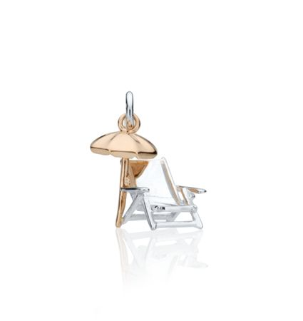 CBStark Jewelers - Beach Chair with Umbrella in sterling silver and 14k gold, $350.00 (http://www.cbstark.com/jewelry/beach-chair-with-umbrella-in-sterling-silver-and-14k-gold/)