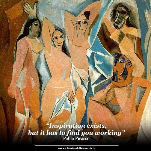 """""""Inspiration exists, but it has to find you working"""" #artoftheday  #pablopicasso"""