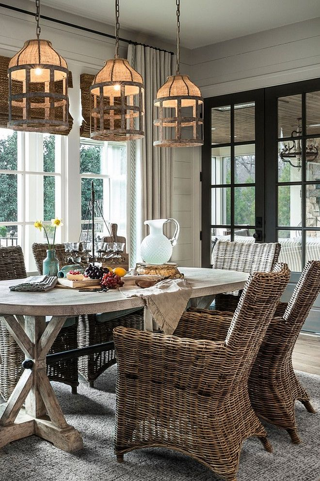 Dining Room Pendant Lighting. Casual Farmhouse dining room pendant lighting…