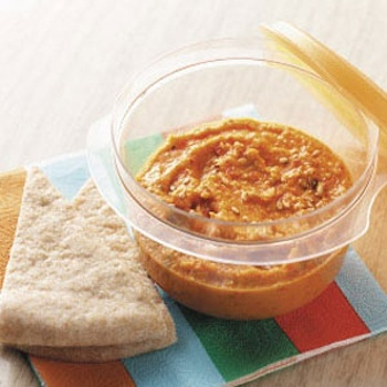 Image for Easy Roasted Red Pepper Hummus Recipe