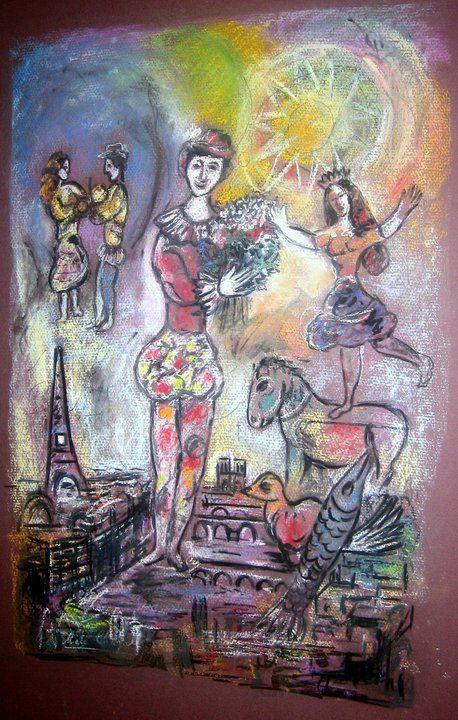 Marc chagall paris through my window skissa och konst for Biographie de marc chagall