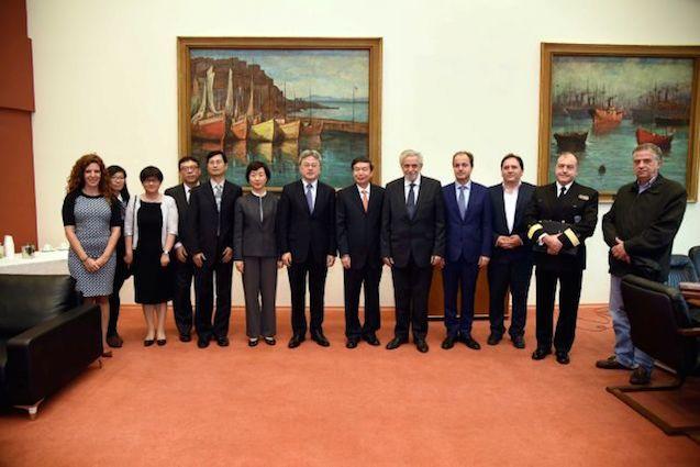 Με τον Κινέζο Υφυπουργό Μεταφορών κ. He Jianzhong συναντήθηκε ο κ. Θ. Δρίτσας