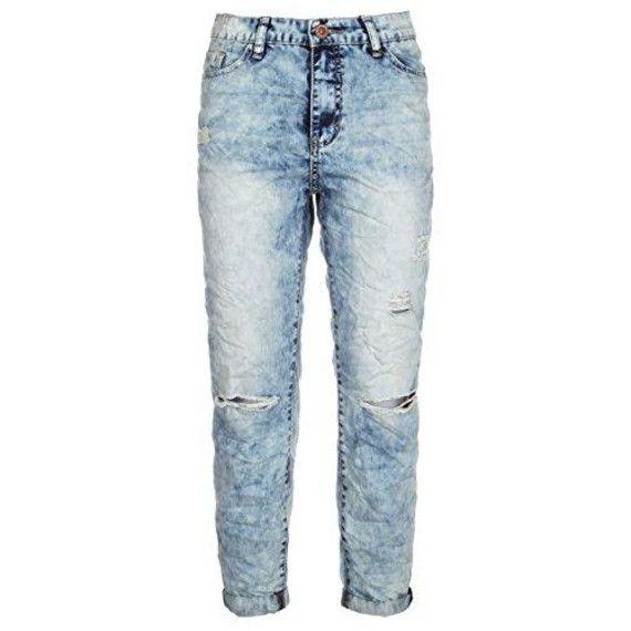 Damen Girlfriend Jeans im Destroyed & Used-Look.