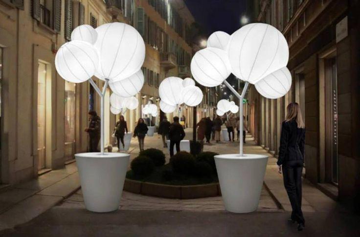 Tree of light. Light art installation design