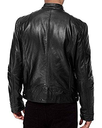 Men's Black Genuine Biker Leather Jacket For sale | Black Leather Jackets for men | jackets for men (S) at Amazon Men's Clothing store: