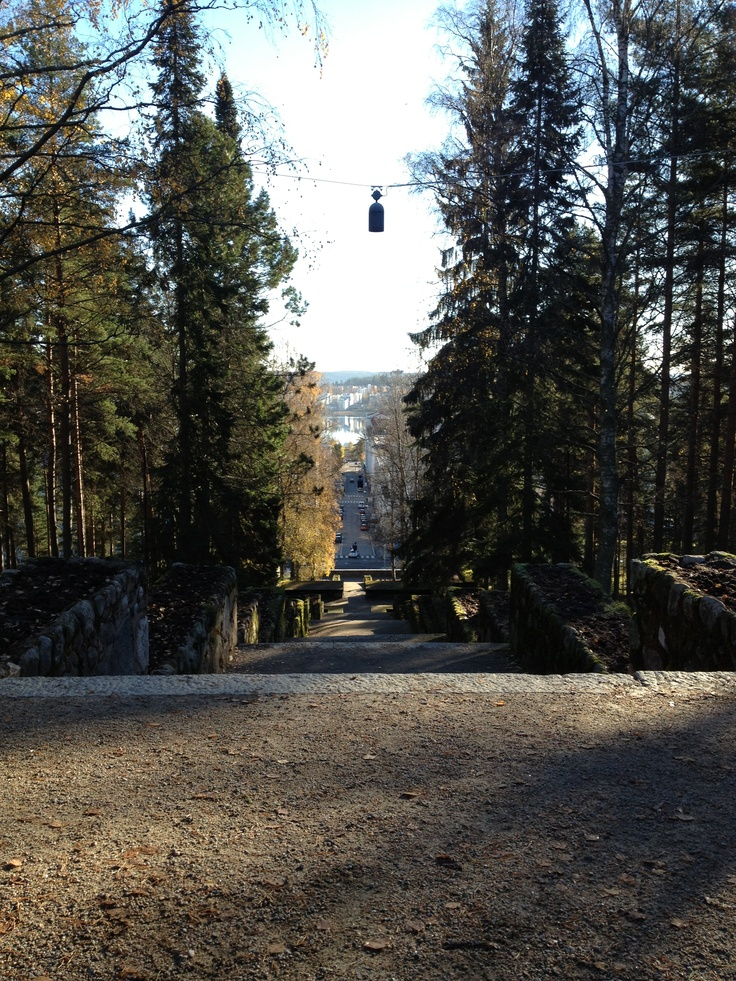 Neron portaat, Harju, Jyväskylä, Finland. Nero's stairs from up at Jyväskylä Ridge. October 2012.