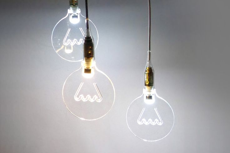 Carved from an acrylic sheet, 'The Light in the Bubble' employs LED bulbs to illuminate a virtual filament and the exterior of the fixture. Specifications: Patent number: 002313585-0001 Two Edison terminals included: E14/E27 Bulb size: 20 x 15 cm LED: G9 – 300