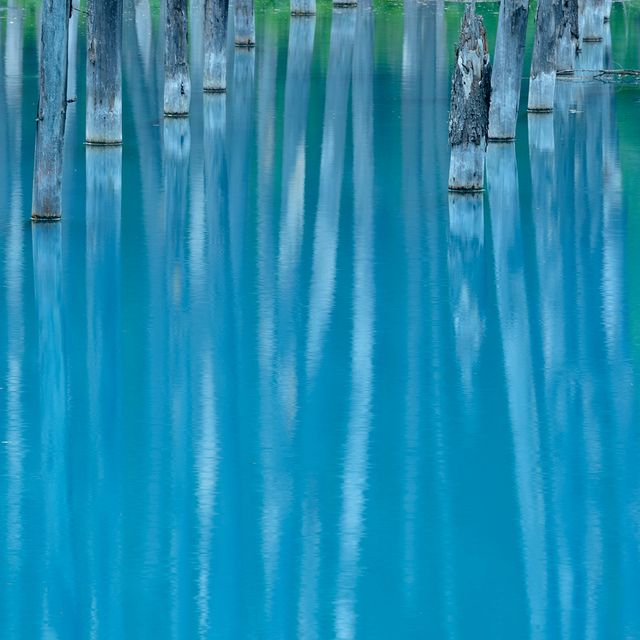 Blue Pond, Hokkaido, Japan by Yuki--chan, via Flickr