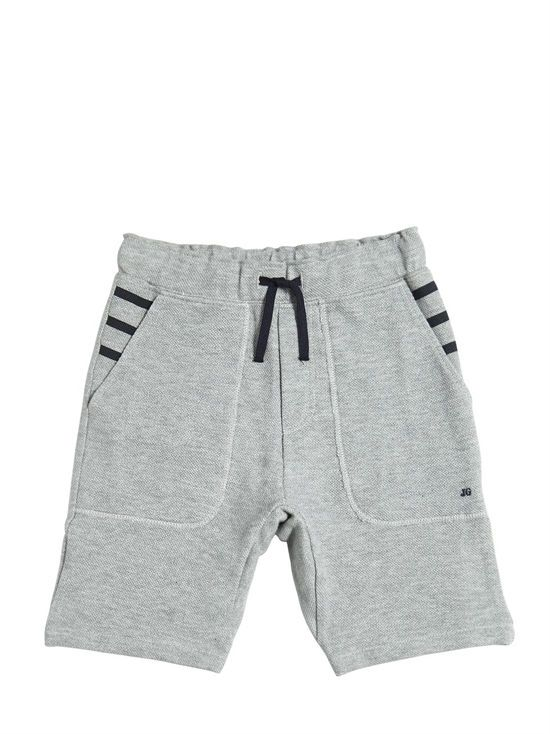 junior gaultier - niño - pantalones cortos - shorts de algodón piqué 4ab463eaf08
