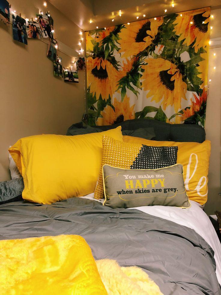Sunflower Dorm Room Dorm Inspiration In 2019 Dorm