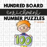 Hundred Board Number Puzzles! Math Enrichment Activities - perfect for my math centers & stations
