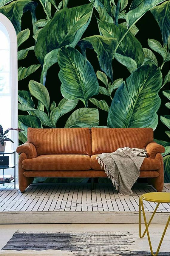 Banana Leaf Wall Mural Banana Leaves Removable Wall Mural
