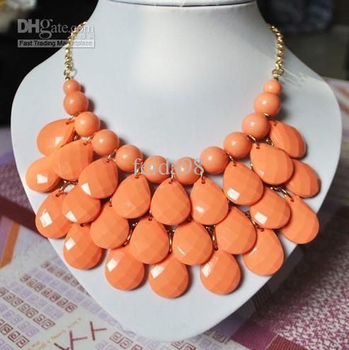 Cheap Pendant Necklaces - Wholesale Bib Statement Necklace Chunky Multi Layers Resin Gem Bubble Necklace Cheap Jewelry Online with $3.99/Pie...