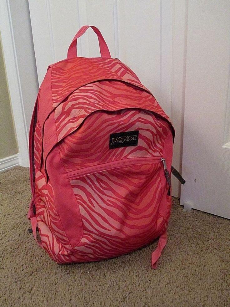 JanSport Backpack Pink Zebra Print #JanSport #Backpack