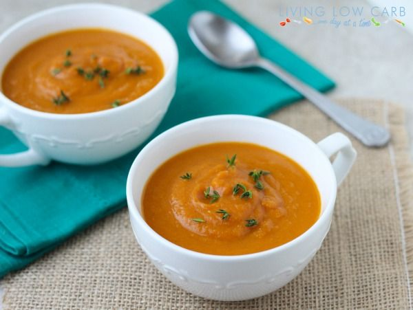 Five Ingredient Friday: Pumpkin Soup | Living Low Carb One Day At A Time