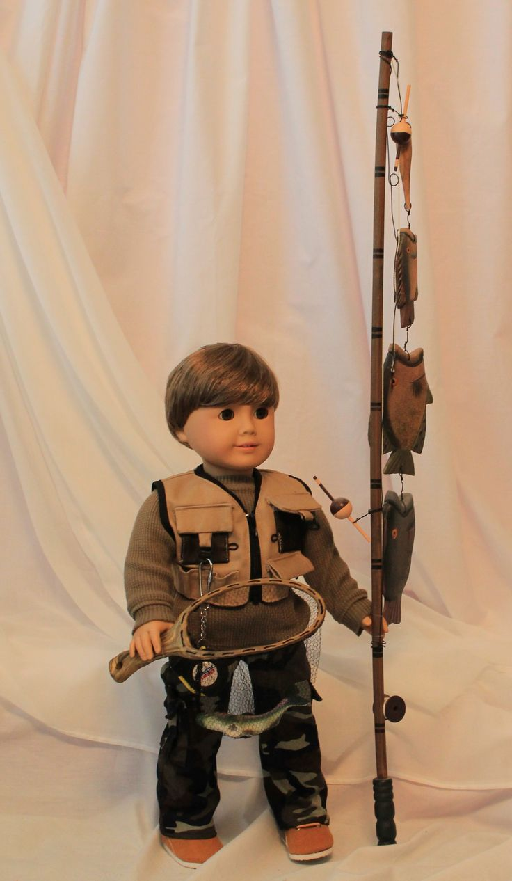 My American Boy Doll (Look at that fishing pole! I want one for my dolls.)