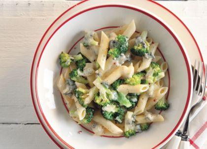 Recept voor pasta met broccoli en blauwe kaas