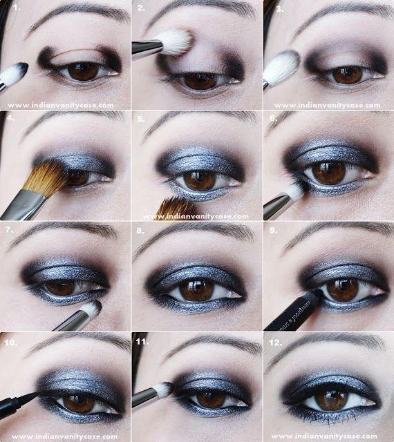 Indian Vanity Case: Fifty Shades Of Grey Inspired Look & Smoky Grey Eye Makeup Tutorial